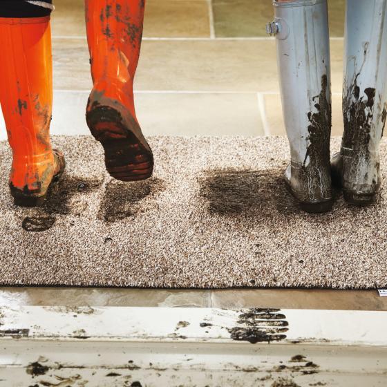Fußmatte, horizontal gestreift | #3