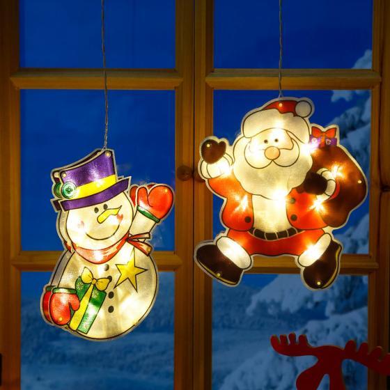 LED-Fensterdeko Weihnachtsmann Manni | #3