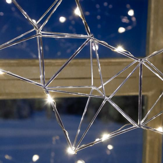 Star LED-Leuchtstern Modern Christmas, 38x38x7 cm, Metall, chrom | #3