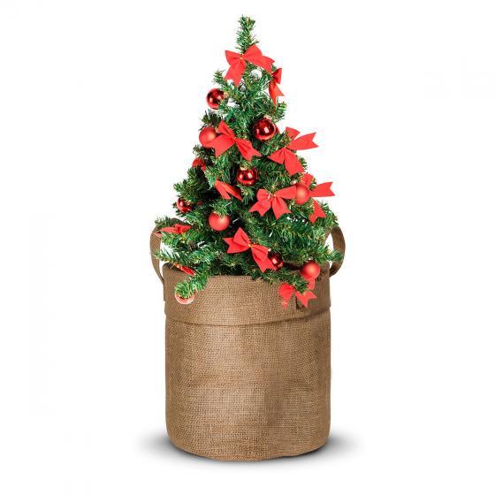 Weihnachtsbäumchen im Jute-Anzuchtbeutel, inkl. 6 Liter Erde und Weihnachtskarte | #3