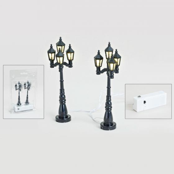 Miniatur-Weihnachtsdorf-LED-Straßenlaternen Konstanz, 2er-Set | #3