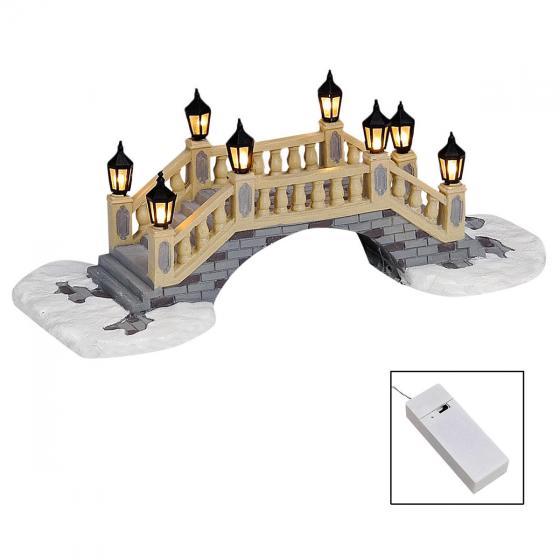 Miniatur-Weihnachtsdorf-LED-Steinbrücke | #3