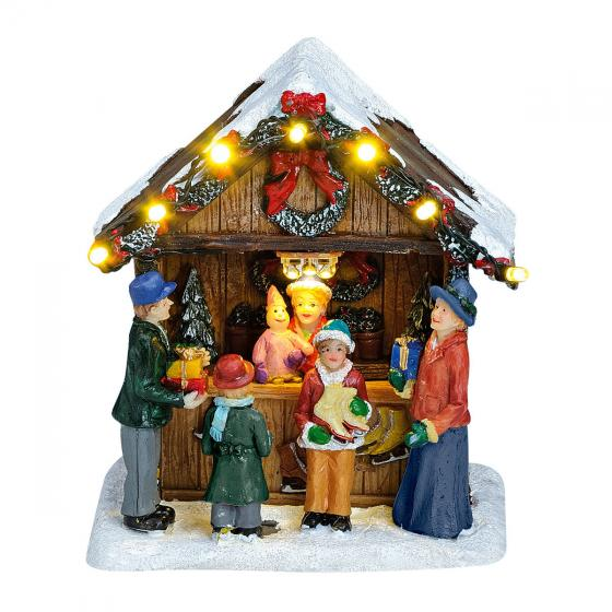 Miniatur-LED-Markt-Stand Adventsschmuck | #3