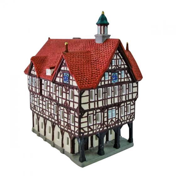 Miniatur-Weihnachtsdorf-Lichthaus Rathaus in Bad Urach | #3