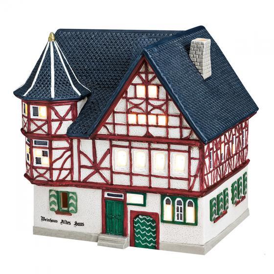 Miniatur-Weihnachtsdorf-Lichthaus Altes Weinhaus in Bacharach | #3