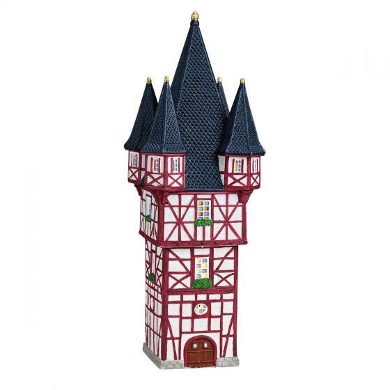 Miniatur-Weihnachtsdorf -Lichthaus Bromser-Turm in Rüdesheim | #3