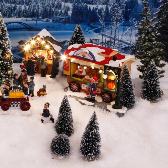 Miniatur-Weihnachtsdorf LED-Brathähnchen-Wagen | #3