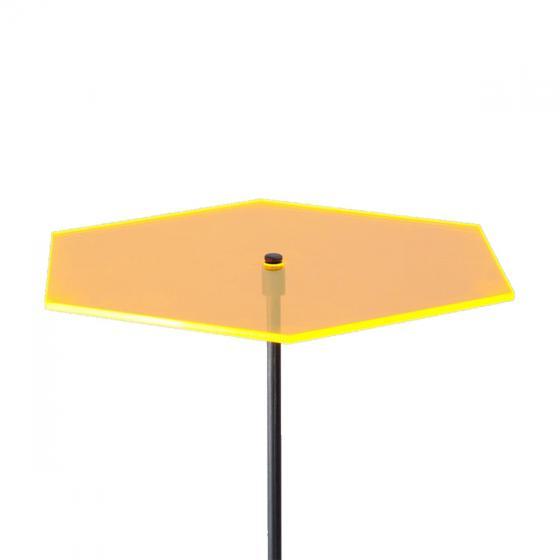 sunart® Acrylglas Lichtfänger, Hexagon, gelborange | #3
