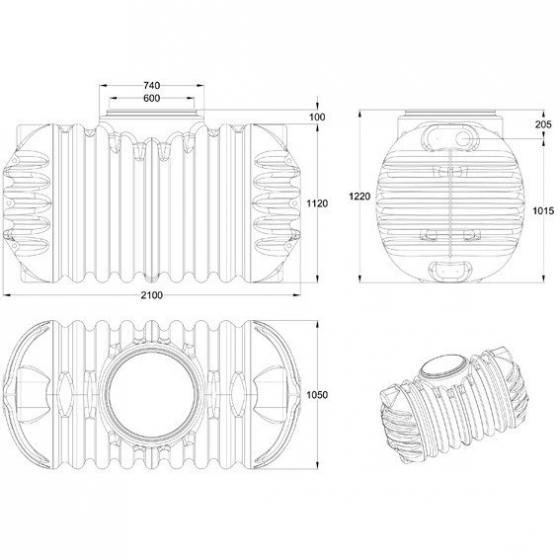 GARANTIA Erdtank Cristall Komplettpaket 1600 Liter | #3