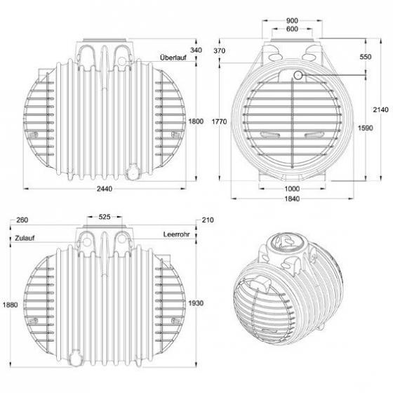 GARANTIA Erdtank Columbus Komplettpaket 4500 Liter | #3