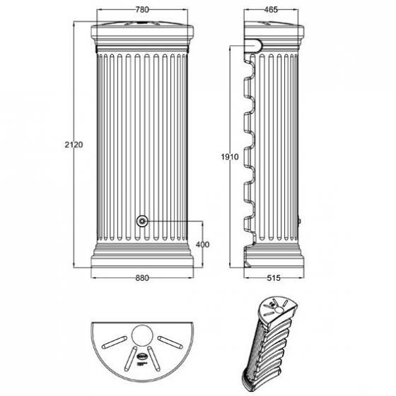 Regenwassertank Säule 550 Liter, sandbeige | #3