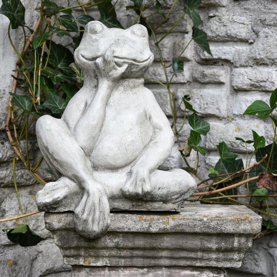 Gartenfigur Mauerhocker Frosch | #3