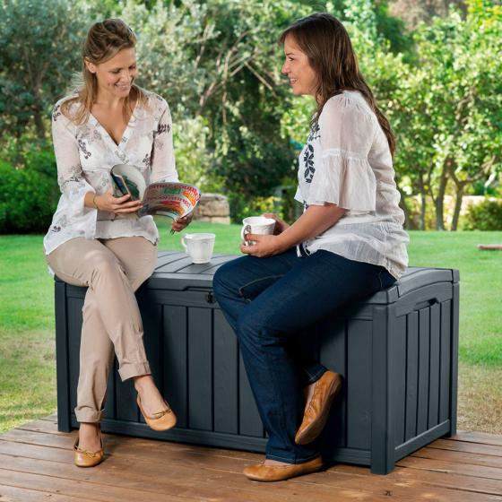 Auflagenbox Glenwood zum Sitzen in Holzoptik | #3