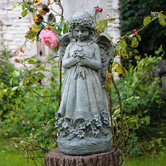 Gartenfigur Blumenengel Fiona | #3