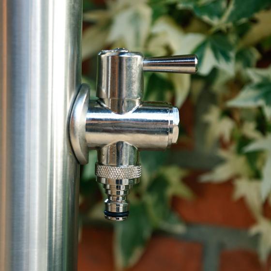 Wasserzapfsäule Silverline, rund, 100x14x21 cm, Edelstahl | #3