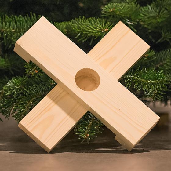 Weihnachtsbaum Nordmanntanne 60-80 cm mit Holzkreuz-Ständer | #3