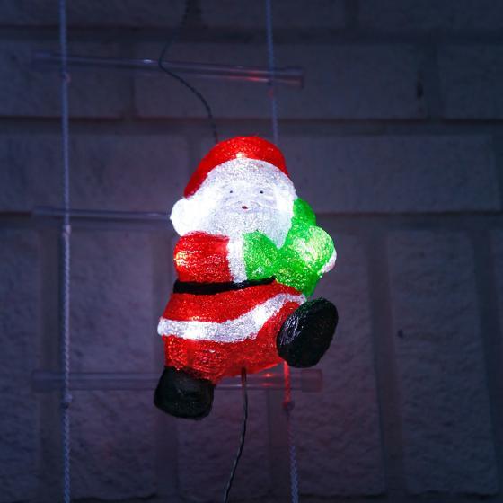 LED-Weihnachtsmann-Trio auf Leiter | #3