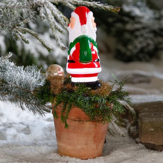 Star LED-Gartenstecker Weihnachtsmann, 28x18x11 cm, Kunststoff, bunt | #3
