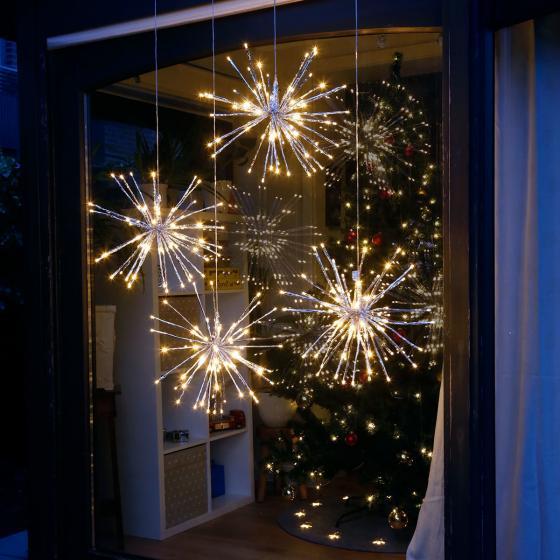 Star LED-Leuchtstern Winter-Feuerwerk, 40 cm, Metall und Kunststoff, silber | #3