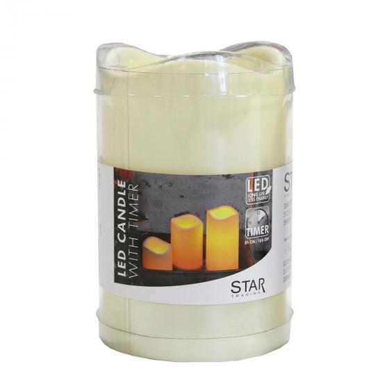 Star LED-Outdoorkerze Weihnachtszeit, 11x7 cm, Kunststoff, creme | #3