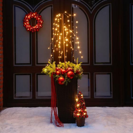 Star LED-Baum Winterweide, 150x50x50 cm, Metall und Kunststoff, braun | #3