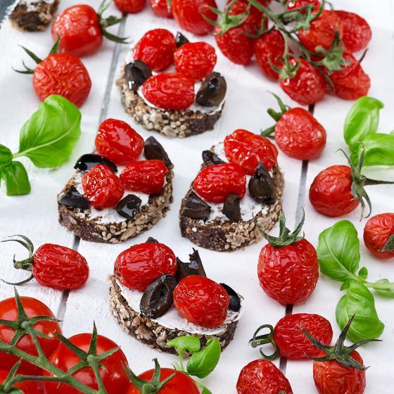 Tomatenpflanze Tutti Frutti Sugar Plum Raisin F1, veredelt, im ca. 10,5 cm-Topf | #3