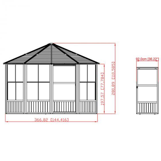Pavillon Charleston 12x12, 281x384x384 cm | #3