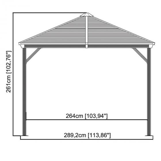 Pavillon Ventura 10x14, 261x423x296 cm | #3