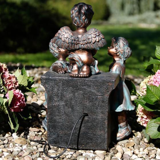 Gartenbrunnen Engelskinder, 63x38x45 cm, Polyresin, bronze | #3