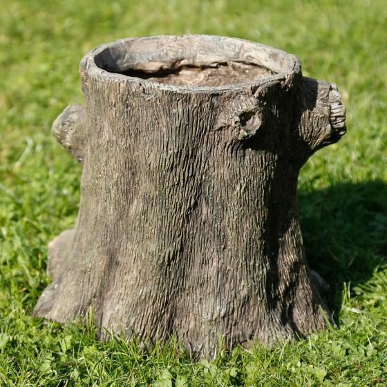 Pflanzkübel Baumstumpfgesicht Woody, 26x24,5x28,5 cm, braun | #3