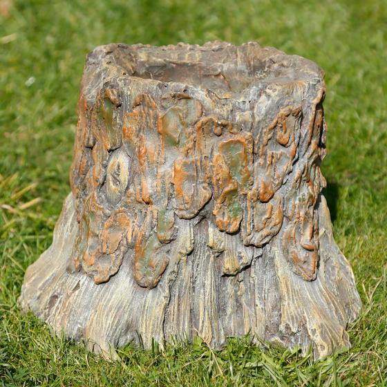 Dekofigur Baumstumpfgesicht Wotan, 24,5x29,5x29,5cm, braun   #3
