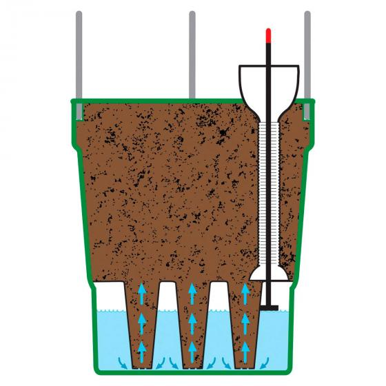 Tomaten-Pflanzturm Grow Tower, Durchmesser 28 cm, H 32 cm, Stütze 120 cm, anthrazit | #3