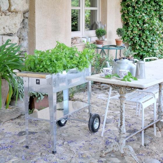 Hochbeet Urban Garden mit Rädern, silber, 75x35x80 cm | #3