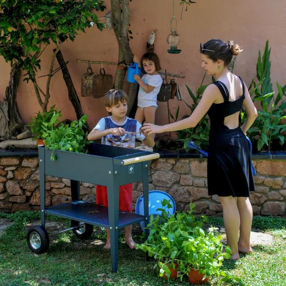 Herstera Urban Garden mit Rädern, anthrazit, 75x35x80 cm | #3