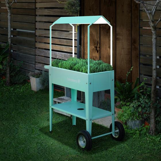 Herstera Überdachung für Hochbeet Urban Garden, mintgrün, 75x35x80 cm | #3