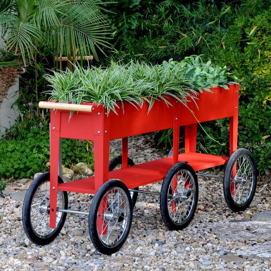 Hochbeet Urban Garden Wheels, rot, 150x35x80 cm | #3