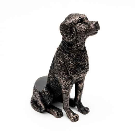 Kübelfuß Bronzeoptik 3er-Set Hündchen, 8,5x5,5x11,5 cm | #3