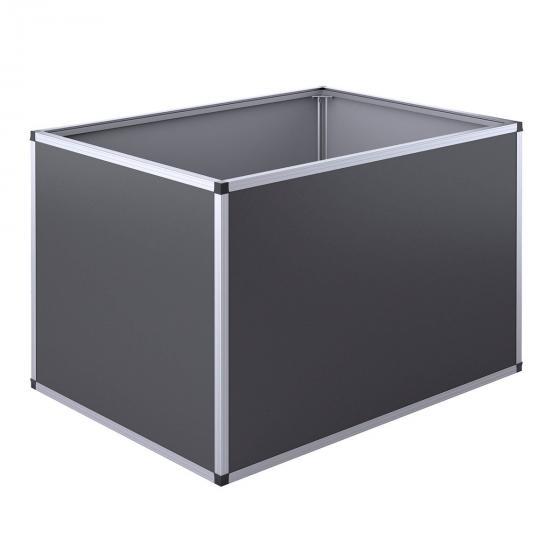 Aluminium-Hochbeet anthrazit, silber 130, 121x91x77 cm | #3