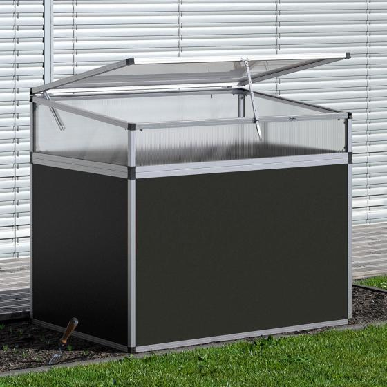 KGT Aluminium-Hochbeet 130, anthrazit/silber,  mit Frühbeetaufsatz, 121x91x109 cm | #3