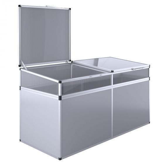 Aluminium-Hochbeet 210, anthrazit/silber, mit Frühbeetaufsatz, 205x91x109 cm | #3