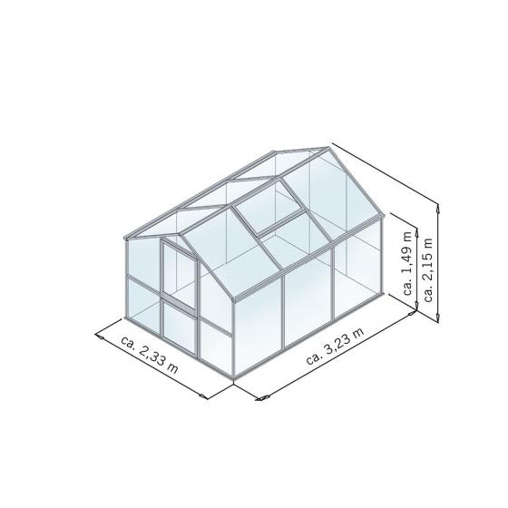 Gewächshaus Tulpe III 233 x 323 cm, pressblank | #3