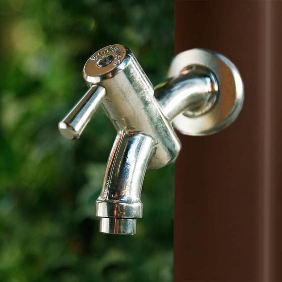 Wasserzapfsäule Tondo, 100x14x21 cm, Stahl, braun | #3