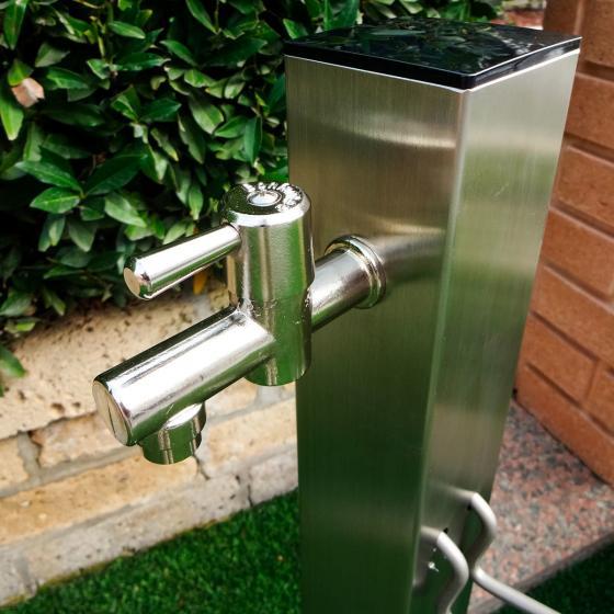 Wasserzapfsäule Silverline, eckig, 100x14x21 cm, Edelstahl | #3