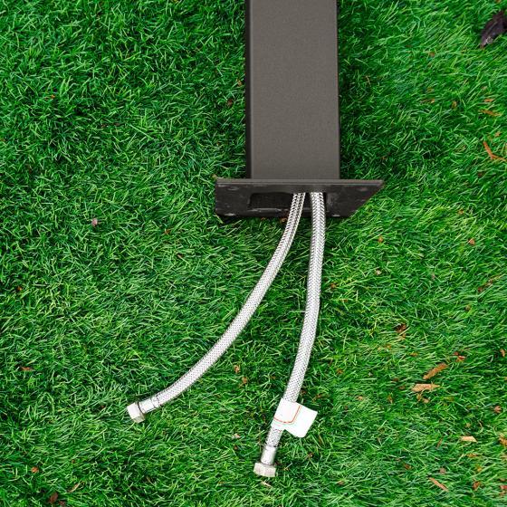 Wasserzapfsäule Quadra, 100x14x21 cm, Stahl, anthrazit | #3