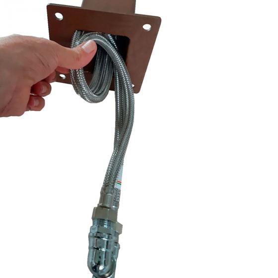Überirdischer Flexischlauch für Wassersäule Tondo, Quadra und Silverline, 47x7x2,5 cm, Stahl | #3