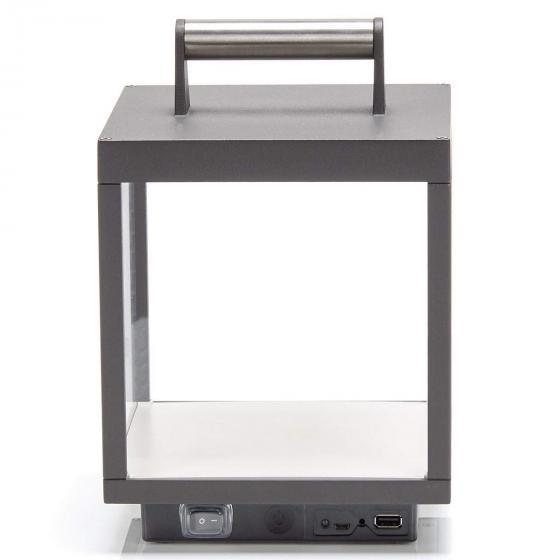 LED Tischleuchte Cube, 26,7x18x18 cm, Aluminium, grau | #3