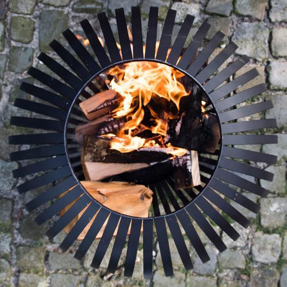 Feuerball Starlight, 74x59x59 cm, Karbonstahl, schwarz | #3