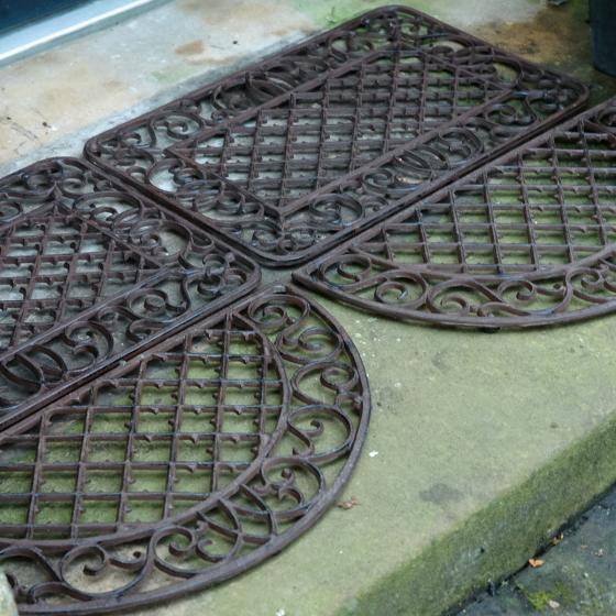 Fußmatte Marlen, 1,9x68x35 cm, Gusseisen, braun | #3
