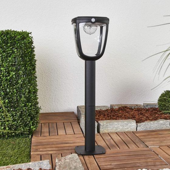 Solar-Wegeleuchte Henk mit Bewegungsmelder, 65,5x18x19 cm, Aluminium, schwarz | #3