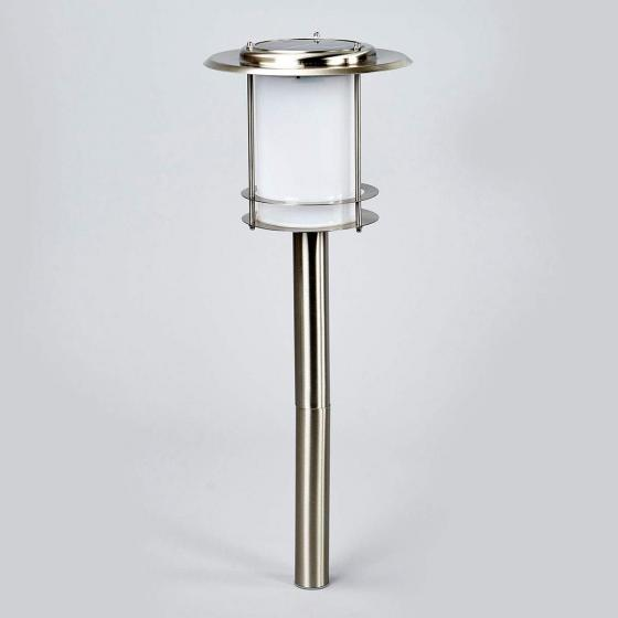 LED-Solarlampe Tony, 77x21,5x21,5 cm, Edelstahl, silber | #3